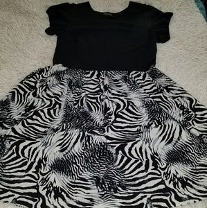 Plus size Black and Zebra Print Lane Bryant Dress